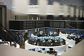Deutsche Borse Stock Exchange trading floor.