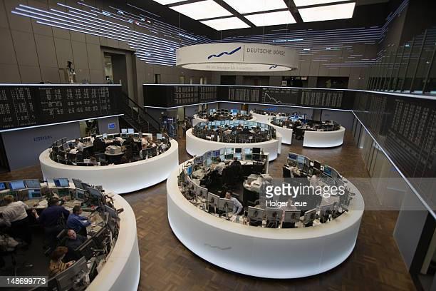 Deutsche Borse Stock Exchange trading floor.