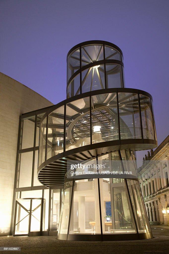 Deutsches Historisches Museum at night, Berlin, Germany