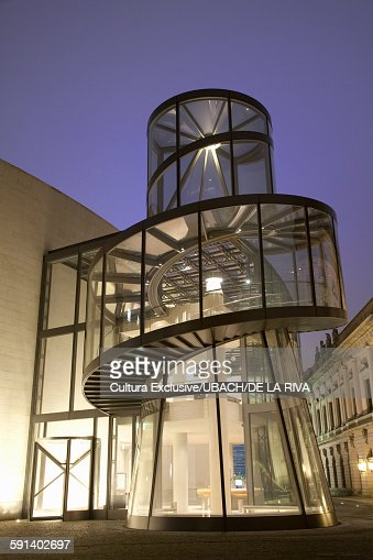 Deutsches Historisches Museum at night, Berlin, Germany