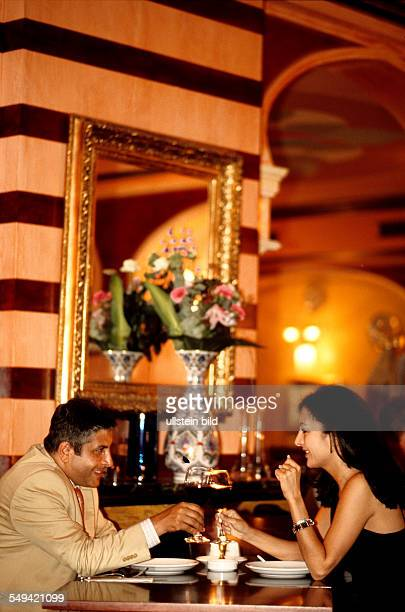 A turkish couple eating dinner in the turkish restaurant Hasir