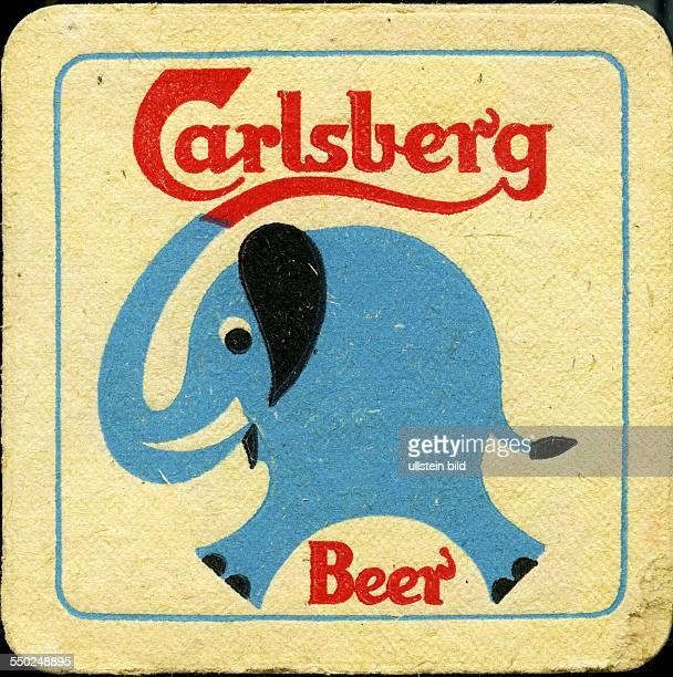 GER Deutschland ca 1970 Bierdeckel Carlsberg
