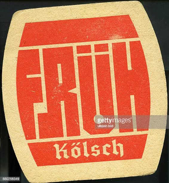 GER Deutschland ca 1970 Bierdeckel Früh Kölsch Bier