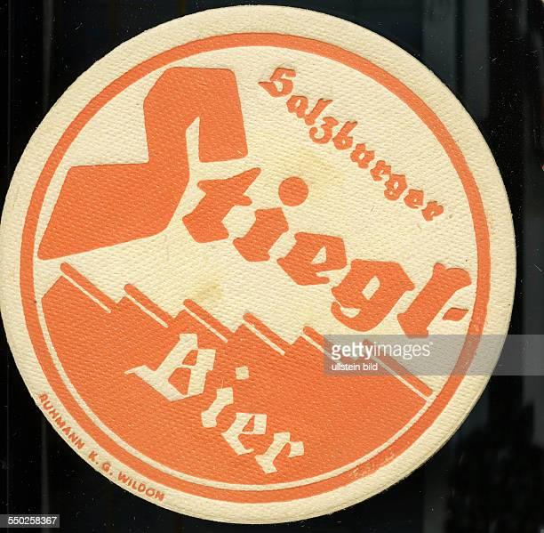 GER Deutschland ca 1970 Bierdeckel Salzburger Stiegel Bier