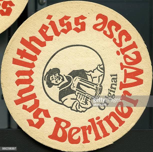 GER Deutschland ca 1970 Bierdeckel Schultheiss Berliner Weisse