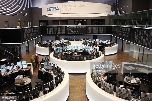 Deutschland Hessen Frankfurt Nach 426 Jahren wurde der sogenannte Parketthandel am 23Mai 2011 auf Xetra umgestellt Der Handel laeuft somit nur noch...