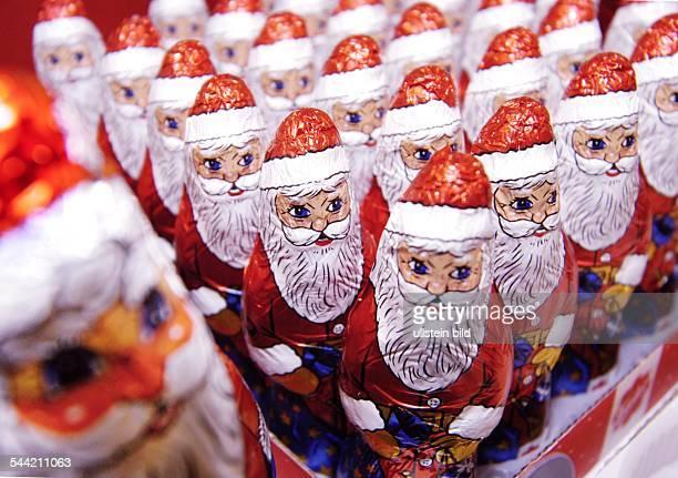 Deutschland Weihnachtsmänner aus Schokolade