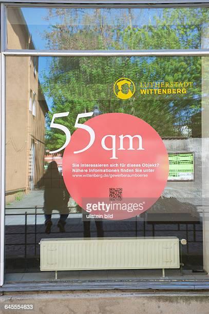 Deutschland Wittenberg Schaufenster leerstehende Immobilie