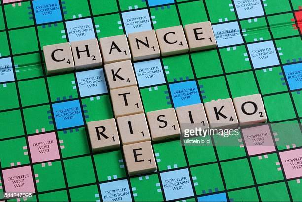 DeutschlandScrabble Spiel mit den Begriffen Aktie Chance Risiko