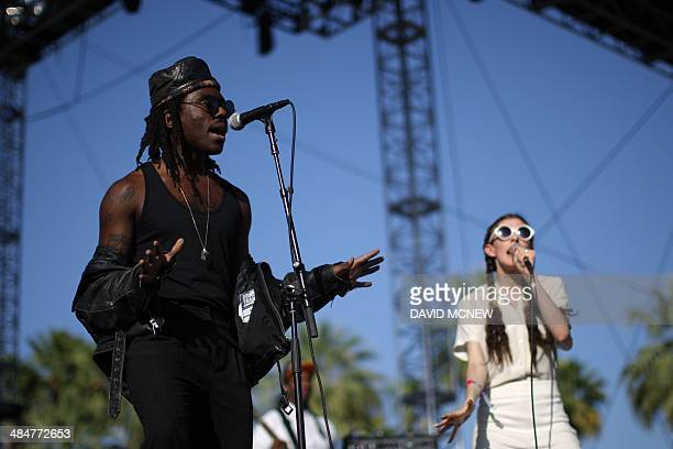 Dev Hynes of Blood Orange performs at the Coachella Valley Music Arts Festival at the Empire Polo Club in Indio California April 13 2014 The annual...