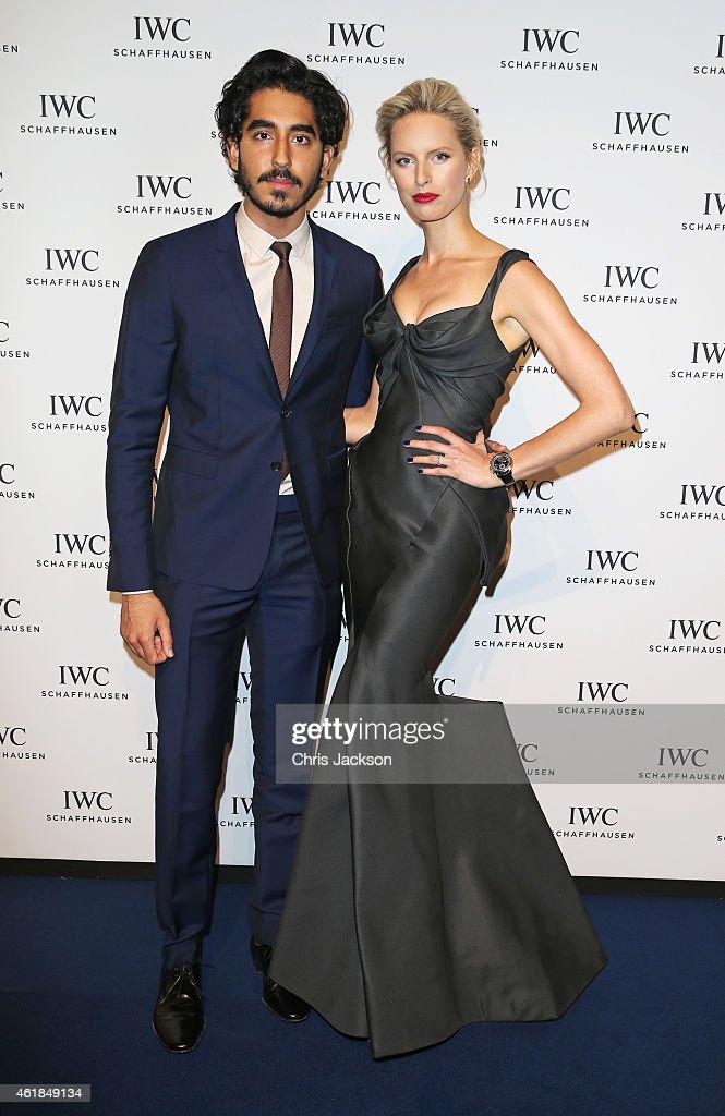 Dev Patel and Karolina Kurkova attend the IWC Gala Dinner during the Salon International de la Haute Horlogerie 2015 at the Palexpo on January 20...
