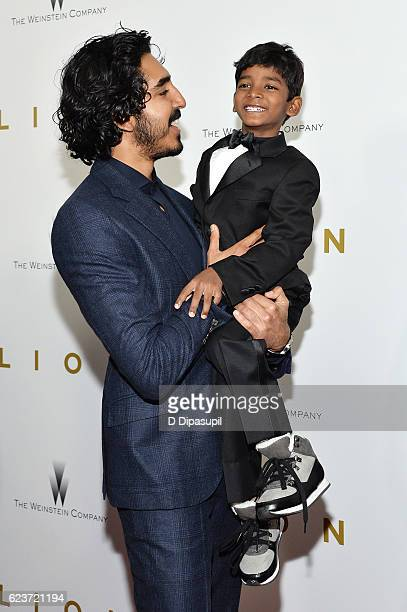 Dev Patel and Sunny Pawar attend the 'Lion' premiere at Museum of Modern Art on November 16 2016 in New York City