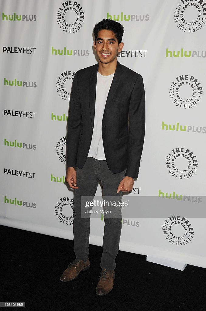 <a gi-track='captionPersonalityLinkClicked' href=/galleries/search?phrase=Dev+Patel&family=editorial&specificpeople=5123545 ng-click='$event.stopPropagation()'>Dev Patel</a> arrives at the 30th Annual PaleyFest: The William S. Paley Television Festival featuring 'The Newsroom' at Saban Theatre on March 3, 2013 in Beverly Hills, California.