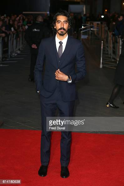 Dev Patel attends the 'Lion' American Express Gala screening during the 60th BFI London Film Festival at Odeon Leicester Square on October 12 2016 in...