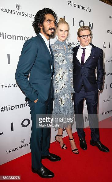 Dev Patel Nicole Kidman and David Wenham arrive ahead of the Australian premiere of LION at State Theatre on December 19 2016 in Sydney Australia