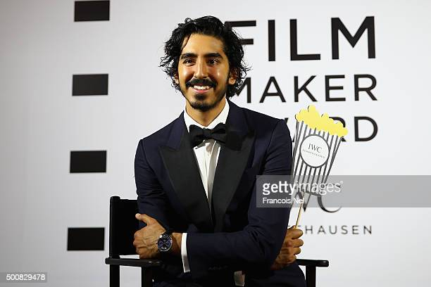 Dev Patel poses during the IWC Filmmaker Award Night 2015 at The One Only Royal Mirage on December 10 2015 in Dubai United Arab Emirates