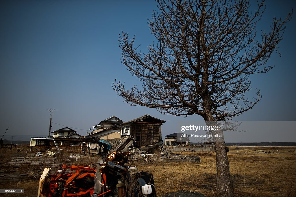 A devastated area is still left within the former exclusion zone, about 20 km away from Fukushima Nuclear Power Plant prior to the second anniversary commemoration of the tsunami and earthquake on March 10, 2013 in Odaka where is exclusion zone , Fukushima Prefecture, Japan. Japan on March 11 will commemorate the second anniversary of the magnitude 9.0 earthquake and following tsunami, that claimed more than 18,000 lives.