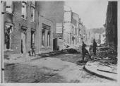 A devastated street in Liege following a German siege during the First World War circa 19141918