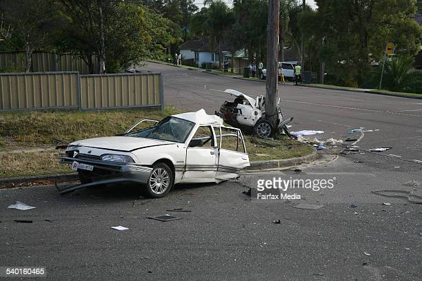 A devastating crash has killed one teenager and injured three others at Tingira Heights south of Newcastle 7 November 2006 NCH Picture by STEFAN MOORE
