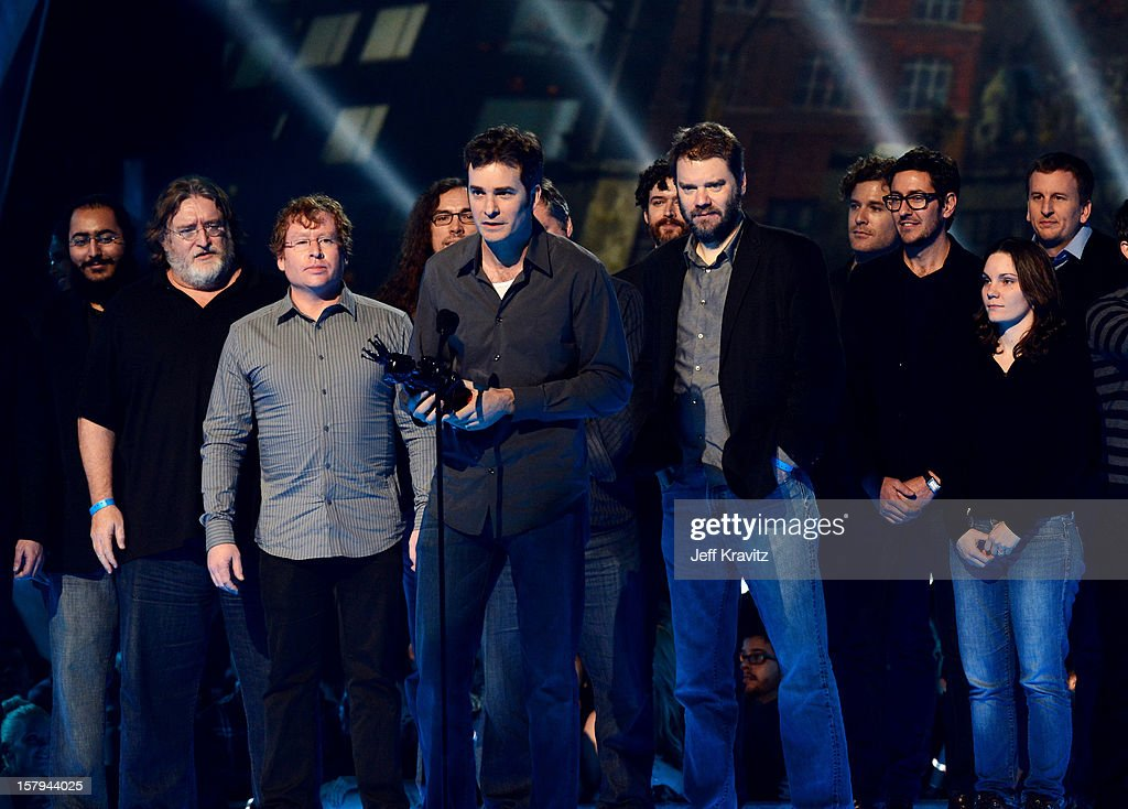 Developers of Half-Life 2 speak onstage during Spike TV's 10th annual Video Game Awards at Sony Pictures Studios on December 7, 2012 in Culver City, California.