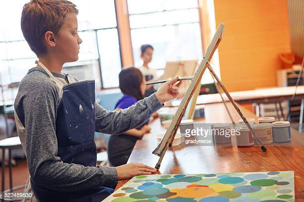 Developing his creative side