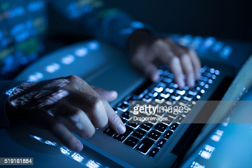 Developing new program : Stock Photo