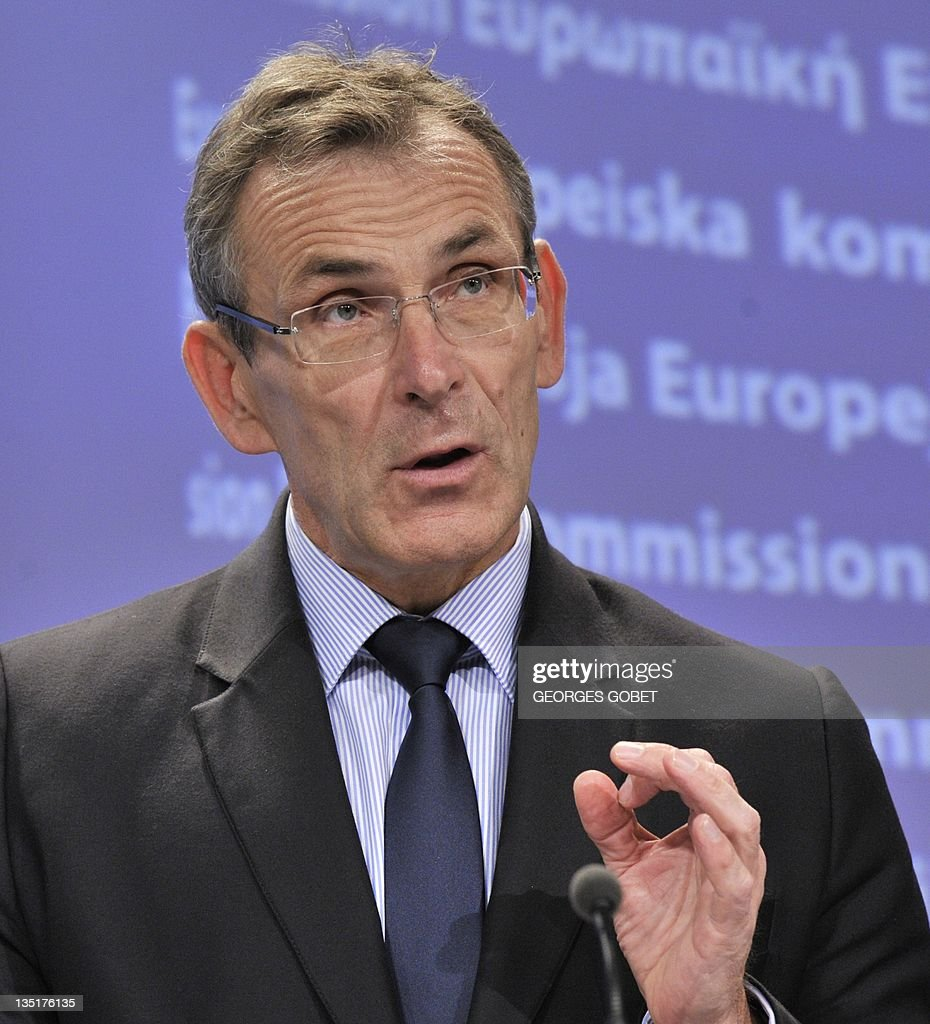 EU development commissioner Andris Piebalgs gives a press conference on December 7 2011 at EU headquarters in Brussels on proposals for 20142020...