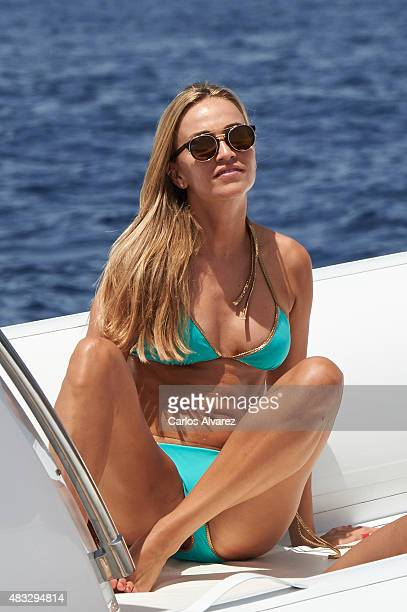 Development Driver for Lotus F1 Team for the 2015 Carmen Jorda on board of tender of Maserati during the 34th Copa del Rey Mapfre Sailing Cup Day 5...
