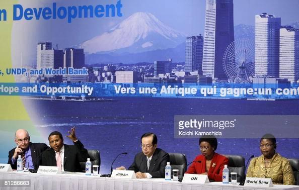UN Development Program or UNDP Director Kemal Dervis Tanzania's President and African Union Chairperson Jakaya Mrisho Kikwete Japanese Prime Minister...