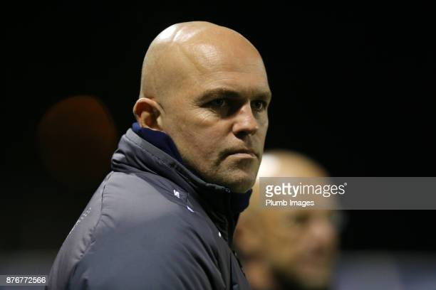 Development Squad assistant coach Ben Petty during the Premier League 2 match between Leicester City and Sunderland at Holmes Park on November 20th...