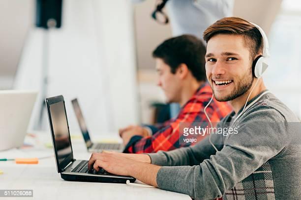 Development Team In Their Office.