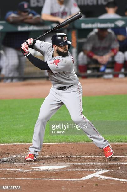 Deven Marrero of the Boston Red Sox bats against the Baltimore Orioles at Oriole Park at Camden Yards on September 20 2017 in Baltimore Maryland
