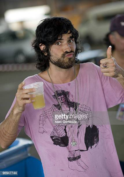 Devendra Banhart backstage the first day of the 2day Sydney leg of the Big Day Out music festival at Sydney Showground on January 22 2010 in Sydney...