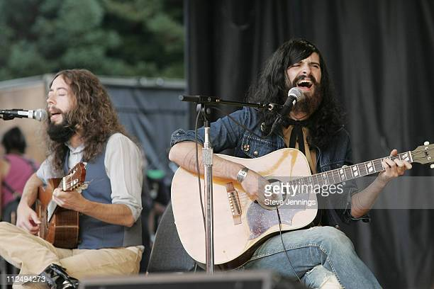 Devendra Banhart during 20th Annual Bridge School Benefit Concert Day One at Shoreline Amphitheatre in Mountain View California United States