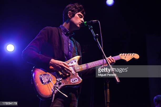 Devendra Banhart perfoms on stage on July 31 2013 in Madrid Spain