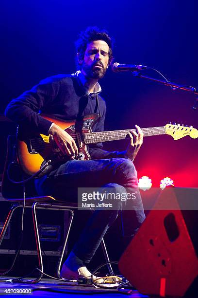 Devendra Banhart performs on stage at ATP Iceland music festival at Asbru on July 12 2014 in Keflavik Iceland