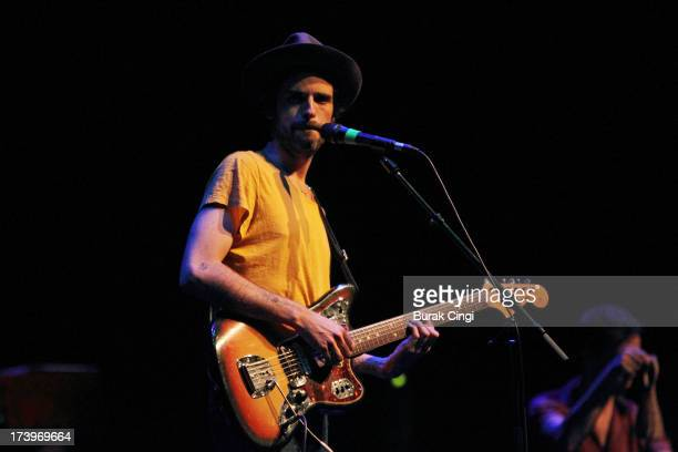 Devendra Banhart performs on stage at Barbican Centre on July 18 2013 in London England