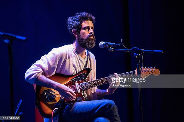 Devendra Banhart performs on stage at Teatro Lara on May 25 2015 in Madrid Spain