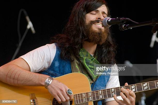 Devendra Banhart performs onstage at The Bridge School Concert at Shoreline Amphitheater in Mountain View California USA on 21st October 2006