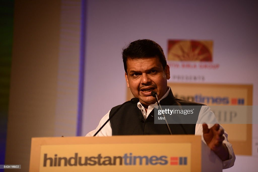 Devendra Fadnavis -Chief Minister Of Maharashtra speaking at HT leadership Summit on November 21, 2014 in New Delhi, India.