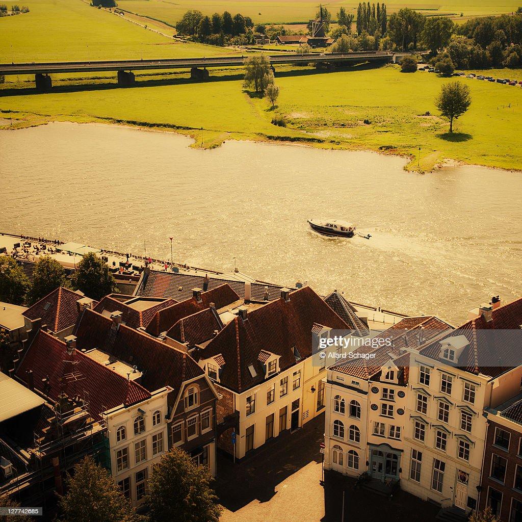 Deventer and IJssel river, Netherlands
