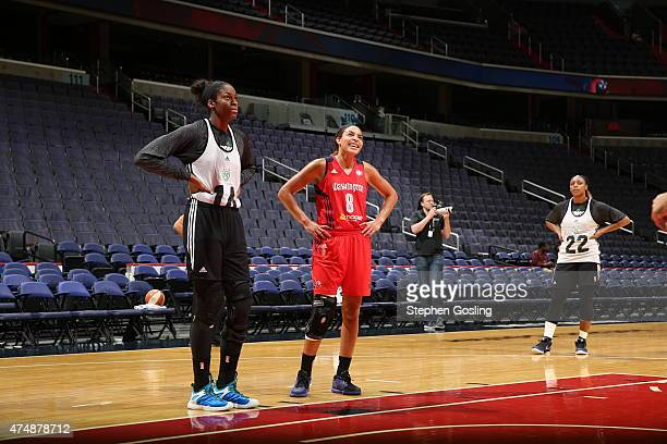 Devereaux Peters of the Minnesota Lynx stands on the court during a game against Bria Hartley of the Washington Mystics during an Analytic Scrimmage...