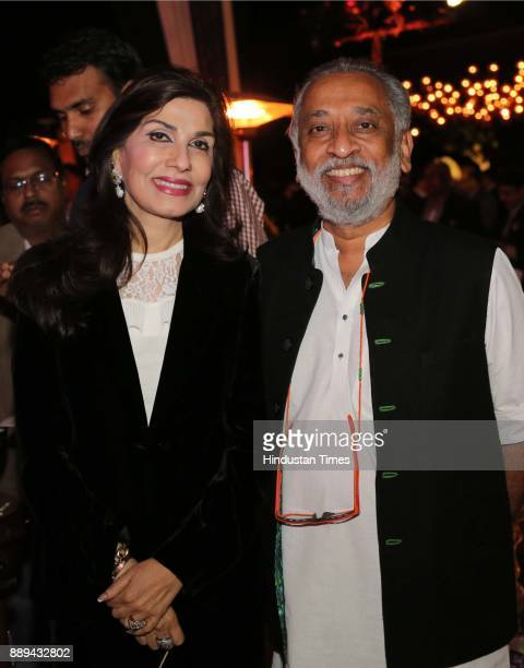 Devi and Dilip Cherian during a Gala evening showcasing fusion of Indian International Culture at Nandiya Garden Hotel ITC Maurya on December 6 2017...