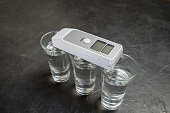 Device for measuring the degree of intoxication...