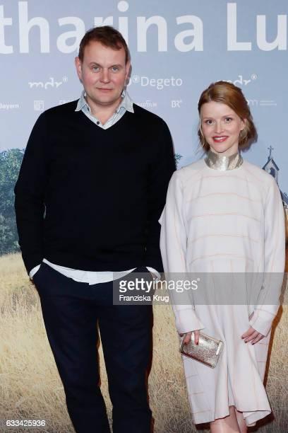 Devid Striesow and Karoline Karoline Schuch attend the 'Katharina Luther' Premiere at Franzoesische Friedrichstadtkirche in Berlin on February 1 2017...
