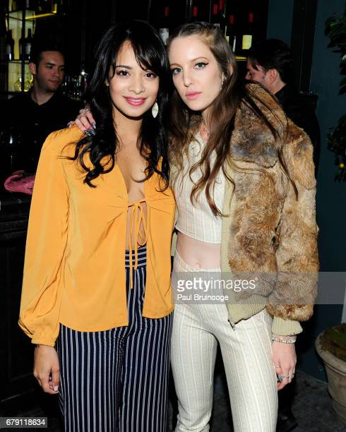 Devika Bhise and Eleanor Lambert attend The Cinema Society BNY Mellon host the after party for Sony Pictures Classics' 'Paris Can Wait' at Laduree...