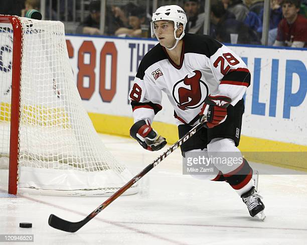 Devils defenseman Brian Rafalski during the game between the Atlanta Thrashers and the New Jersey Devils at the Philips Arena in Atlanta GA on...