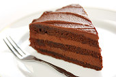 devil's food cake on a white background