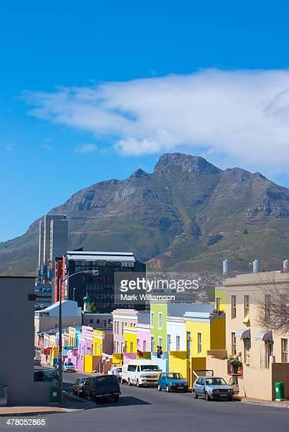 Devil?s Peak mountain from Bo Kaap, Cape Town.