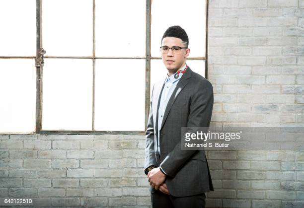 Devin Booker of the Phoenix Suns poses for a photo during the 2017 AllStar Media Circuit at the Ritz Carlton in New Orleans LA NOTE TO USER User...
